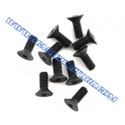 Flat Head Screw 3x8mm (10pcs)