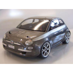 Delta Plastik Carrozzeria Fiat Nuova 500 con adesivi (1/8 Rally)