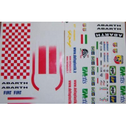 Delta Plastik Decals for Fiat Grande Punto Abarth Body (1/10)