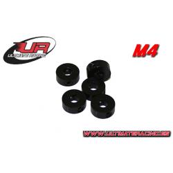 Ultimate Racing Collarini Light 4mm Neri (5pz)