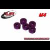 Ultimate Racing 4mm Aluminium Stoppers Purple (5pcs)