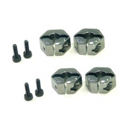 3 Racing Aluminium Wheel Adaptor For Mugen MTX4