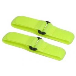 3 Racing Long Battery Straps 27cm (Yellow Fluorescent)