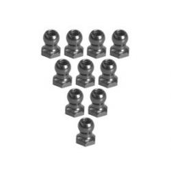 3 Racing 4.8MM Hex Ball Stud L=5 (10pcs) - Titanium