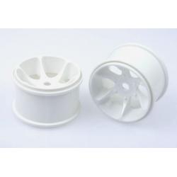 86127 Hobao Hyper ST Truggy 6 Spoke Wheels (White 2Pcs)