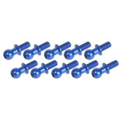 3 Racing 4.8MM Ball Stud L=6 (10pcs) - Blue