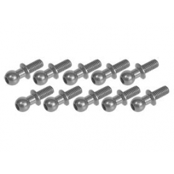 3 Racing 4.8MM Ball Stud L=6 (10pcs) - Titanium