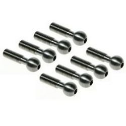 3 Racing 64 Titanium Pivot Ball 8mm - 8pcs For Mugen MTX4