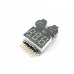 TopCad Misuratore voltaggio per batterie LiPo da 3,2 a 25,99V