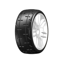"GRP REVO T01 GT 1/8 Tires 2018 Mounted on HARD Spoked Rims (""S04 Medium)"