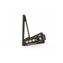 ArrowMax Misuratore Camber in ergal Black Golden per automodelli 1/8