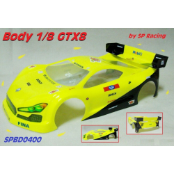 SP Racing GTX8 1/8 GT Body With Decals