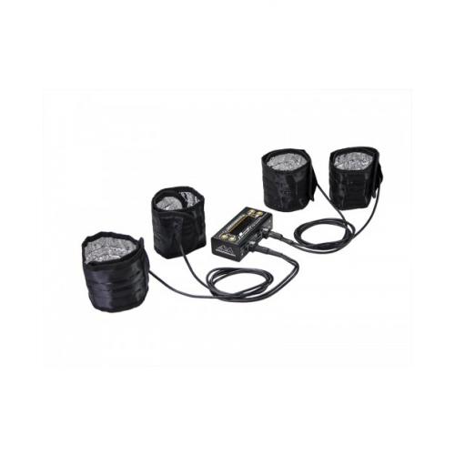 ArrowMax Tyre Warmer (1/8th) & Batt Warmer With Bag Black Golden