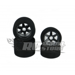 SP Racing Treno gomme 1/8 On/Road cerchio Carbon 32/35 Shore