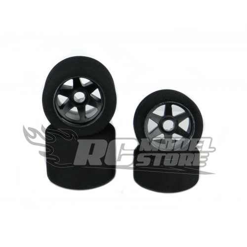 SP Racing Front/Rear 1/8 On/Road Tires on Rims Carbon 32/35 Shore