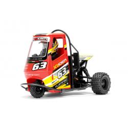 Automodello Elettrico X-Rider Flamingo Triciclo Ape Car RTR 1/8 (Giallo)