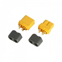 Rockamp XT60 Connector Set (Plug and Socket) with buckle