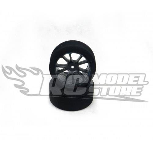 SP Racing GOLD Rear Touring Car 1/10 Mounted on Carbon Rims (35 Shore)