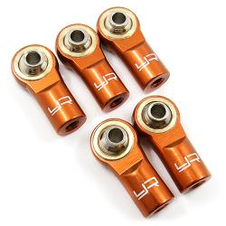 Yeah Racing Aluminium M3 Rod Ends (5pcs) Orange