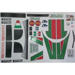 Delta Plastik Decals for Lancia Stratos Body (1/8)