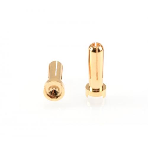 Ruddog 5mm Gold Plug Male (2pcs)