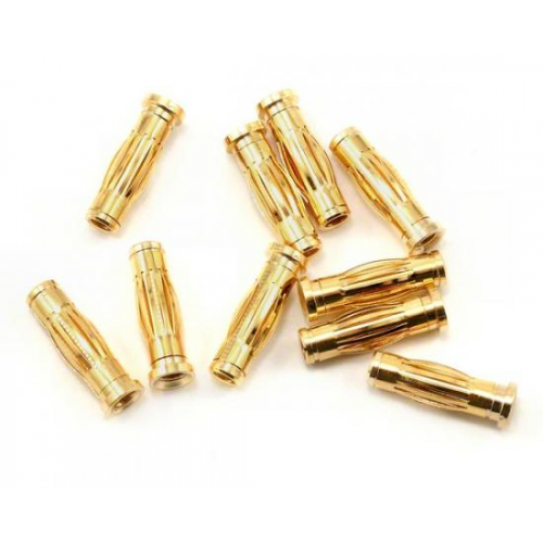 Team Orion Gold Plug 4mm (Male X10)