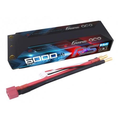 Gens ace 6000mAh 7.6V 100C HV Black Hard Case Lipo