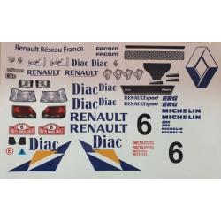 Delta Plastik adesivi per carrozzeria Renault Clio Williams 1/10