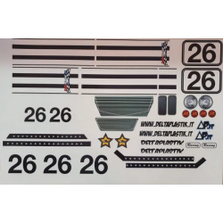 Delta Plastik Decals for Shelby Cobra Body (1/8)