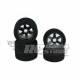 SP Racing Front/Rear 1/8 On/Road Tires on Rims Carbon 30/32 Shore