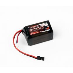 Robitronic Pacco Batteria Li-Fe RX 6,6V 2000mAh 25C (Piramide)