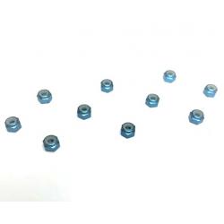 Xceed Dadi autobloccanti in ergal 3mm (10pz Blu)
