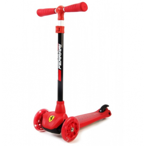 Ferrari Kids Twist Scooter Adjustable Folding Kick Push 3 Wheels for Boy