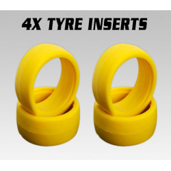 iRacing Yellow Medium 1/8 Buggy Foam Tire Inserts (4)