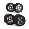 "Matrix Front/Rear 1/8 On/Road Tires on Rims ""NEW FIVE""Carbon 32/35 Shore"