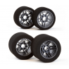 "Matrix 10 Set Front/Rear 1/8 On/Road Tires on Rims ""NEW FIVE""Carbon 32/35 Shore"