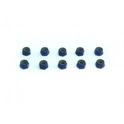 Xceed Dadi autobloccanti in ergal 4mm (10pz Blu)