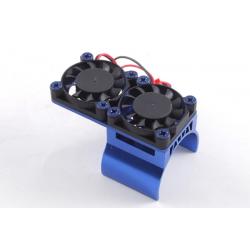 Fastrax Fastrax Blue Aluminium Twin Fan Motor Heatsink Unit