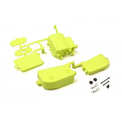 IFF001KYB Kyosho Inferno MP10 Battery & Receiver Box Set (F-Yellow)