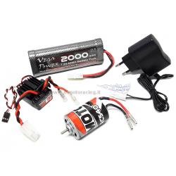 Himoto Kit brushed 1/10 motore 540 ESC 150A Waterproof batteria e caricabatterie