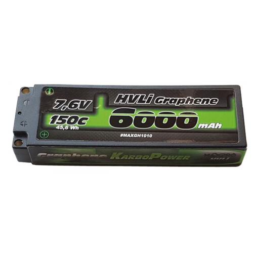 MaxPro LiHV 6000mAh 150C - 7.6V Graphene Stick Pack